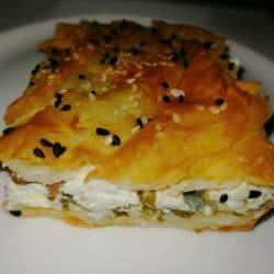 Kıymalı Peynirli Tepsi Böreği