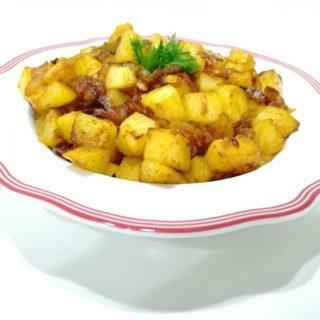 Karamelize Soğanlı Patates Kavurması