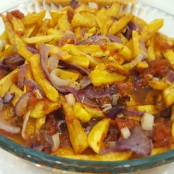 Mor Soğanlı Patates Kızartması