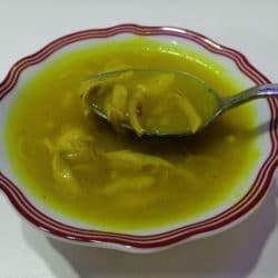 Tavuklu Mısır Unu Çorbası